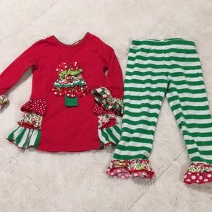 Rare Editions 2T Christmas outfit